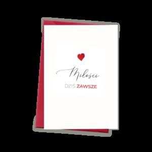 Kartka okolicznościowa A6- Miłość
