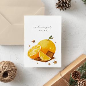 Kartka PACHNĄCE ŚWIĘTA- Pomarańcze