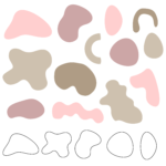 Abstrakcyjne elementy   Canva, Ai